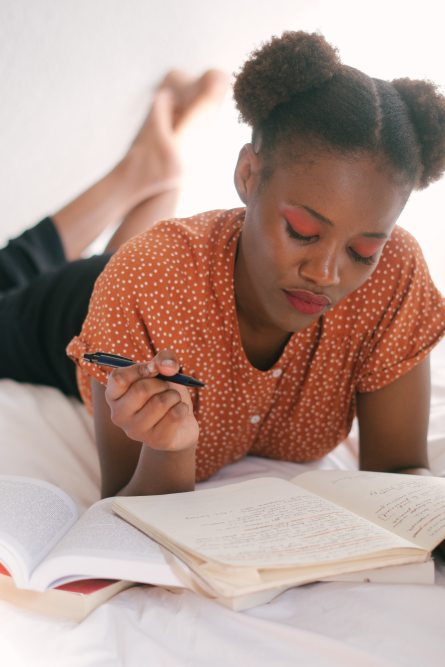 Black Woman Journaling